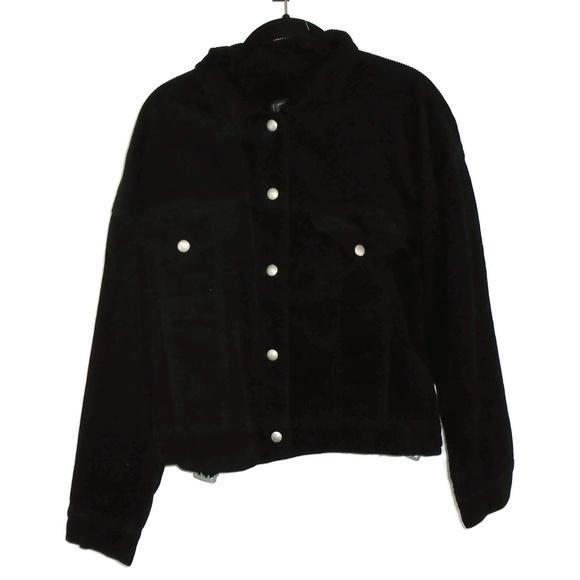 Blank NYC Jackets & Blazers - BlankNYC Corduroy Jacket Black Lined Silver Snap